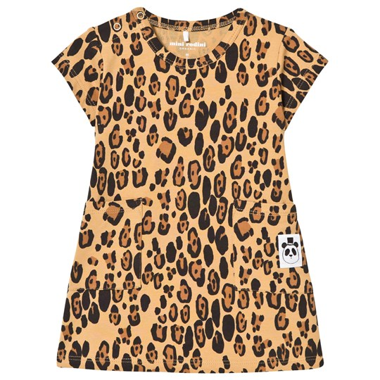 Mini Rodini Basic Leopard Dress Beige Beige