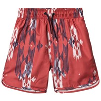 Soft Gallery Oliver Bad Shorts Hot Sauce Hot Sauce, AOP Native red