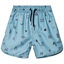 Soft Gallery Oliver Bad Shorts Smoke Blue Smoke Blue, AOP Elements