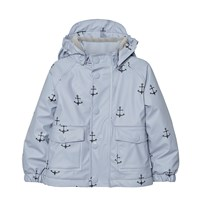 Mini A Ture Julien Print Raincoat Ashley Blue Ashley Blue