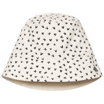 The Bonnie Mob Printed Reversible Sun Hat Grey Bunny Print Grey Bunny Print