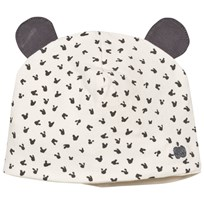 The Bonnie Mob Printed Hat With Ears (Reversible) Grey Bunny Print Grey Bunny Print