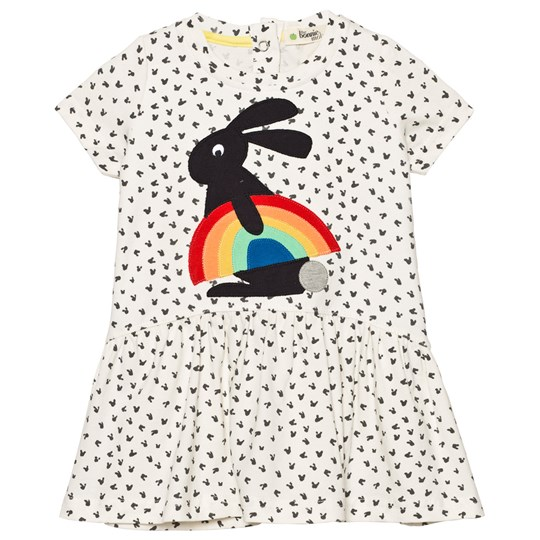 The Bonnie Mob Applique Short Sleeve Dress Rainbow Bunny Applique Rainbow Bunny Applique