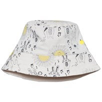 The Bonnie Mob Printed Reversible Sun Hat Sunny Bunny Print Sunny Bunny Print