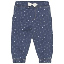 The Bonnie Mob Indigo Terry Comfy Trouser Denim Tee Pee Print Denim Tee Pee Print