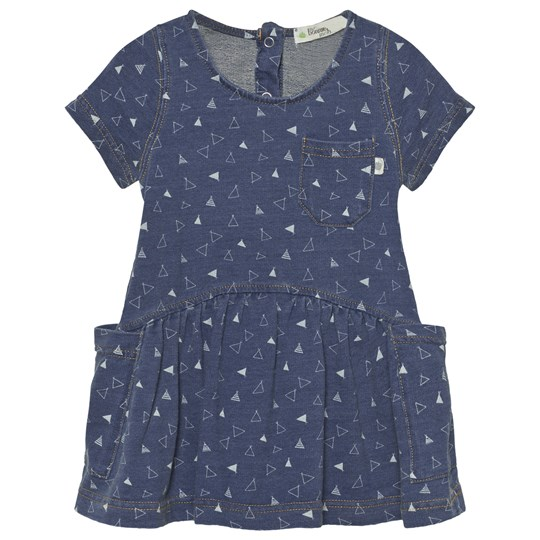 The Bonnie Mob Indigo Terry Dress With Pockets Denim Tee Pee Print Denim Tee Pee Print