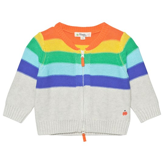 The Bonnie Mob Placed Stripe Cardigan Rainbow Rainbow