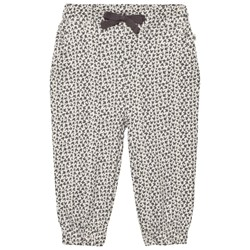 The Bonnie Mob Lightweight Terry Comfy Trouser Grey Bunny Leopard Print