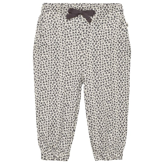 The Bonnie Mob Lightweight Terry Comfy Trouser Grey Bunny Leopard Print Grey Bunny Leopard Print