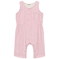 The Bonnie Mob Lightweight Terry Sleeveless Jumpsuit Pink Bunny Leopard Print Pink Bunny Leopard Print
