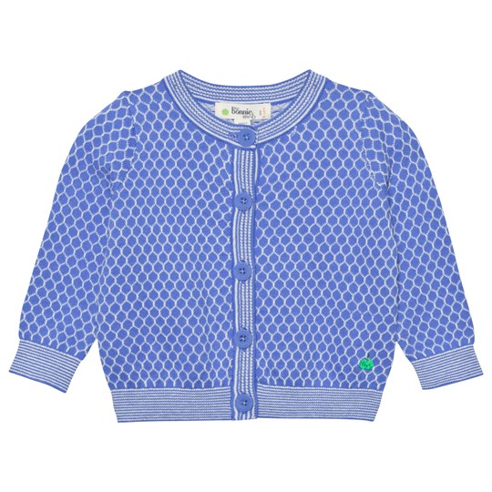 The Bonnie Mob Honeycomb Jaquard Cardigan Blues Blues