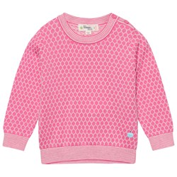 The Bonnie Mob Honeycomb Jaquard Sweater Pink