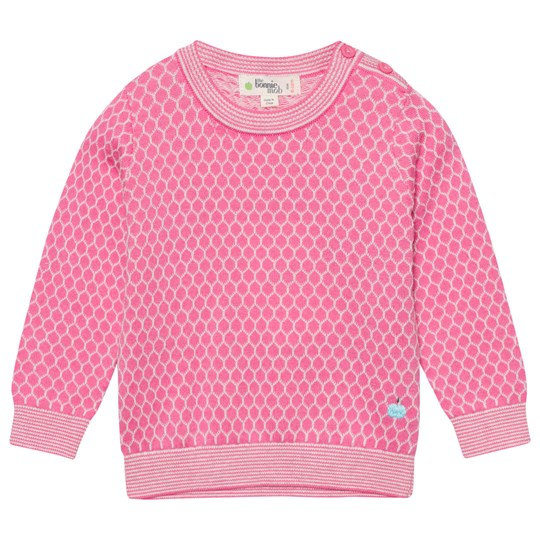 The Bonnie Mob Honeycomb Jaquard Sweater Pink Pinks
