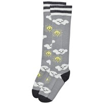 The Bonnie Mob Sunshine And Clouds Knee Length Socks Grey Sort