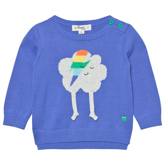 The Bonnie Mob Flash Cloud Intarsia Sweater Blue Blue