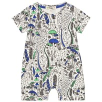 The Bonnie Mob Printed Shorty Romper Wilderness Blue Wilderness Blue