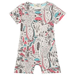 The Bonnie Mob Printed Shorty Romper Wilderness Pink