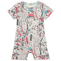 The Bonnie Mob Printed Shorty Romper Wilderness Pink Wilderness Pink
