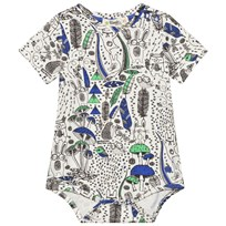The Bonnie Mob Printed Short Sleeve Baby Body Wilderness Blue Wilderness Blue
