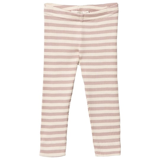 MarMar Copenhagen Modal Leggings Faded Rose/Off White Faded Rose/Off White