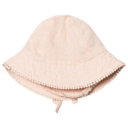 MarMar Copenhagen Alba Baby Solhatt Peach Cream Dot Peach Cream Dot