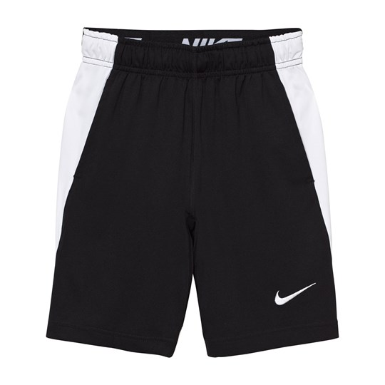 NIKE Black Dry Fly Shorts BLACK/WHITE/BLACK/WHITE