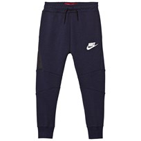 NIKE Navy Tech Fleece Joggers OBSIDIANHEATHER/WHITE