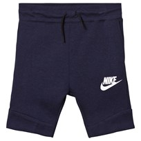 NIKE Navy Tech Fleece Shorts OBSIDIANHEATHER/WHITE