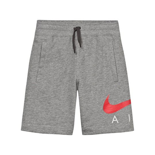 NIKE Air Shorts Grå CARBON HEATHER/ANTHRACITE/UNIVERSITY RED