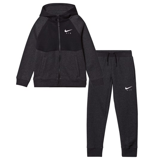 NIKE Black Air Cuff Track Suit BLACK HEATHER/BLACK/WHITE