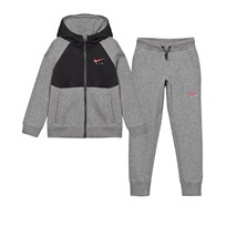 NIKE Grey Air Cuff Track Suit CARBON HEATHER/BLACK/UNIVERSITY RED