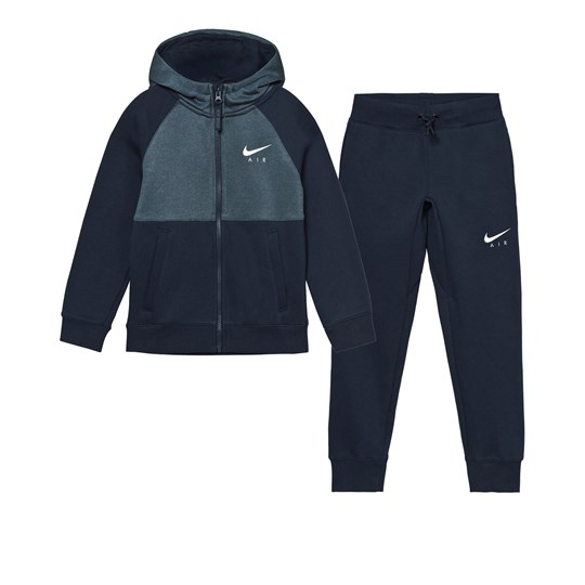 NIKE Navy Air Cuff Track Suit OBSIDIAN/OBSIDIAN/WHITE