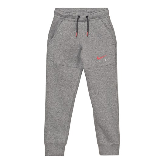 NIKE Grey Air Joggers CARBON HEATHER/ANTHRACITE/UNIVERSITY RED