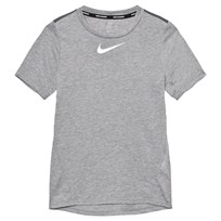 NIKE Grey Tailwind Dry Tee DARK GREY/HTR/DARK GREY