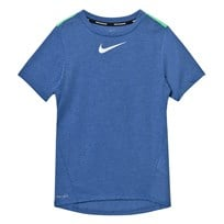 NIKE Tailwind Dry T-shirt Blå PARAMOUNT BLUE/HTR/ELECTRO GREEN