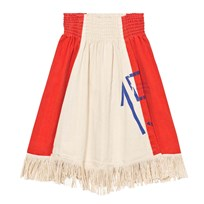 The Animals Observatory Pelican Skirt Raw White/Plain Red Raw White Plain Red