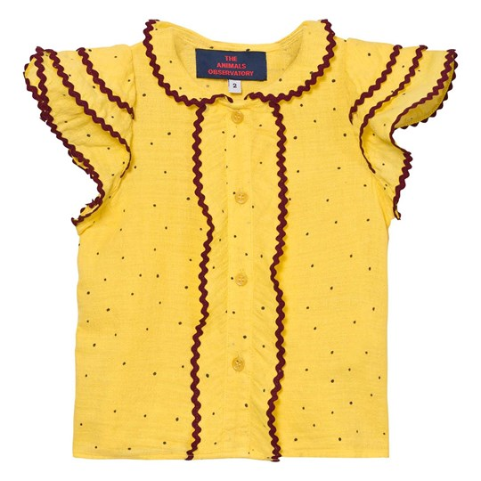 The Animals Observatory Parakeet Shirt Yellow Dots Yellow Dots