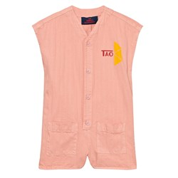 The Animals Observatory Ape Romper Pink Tao Triangles
