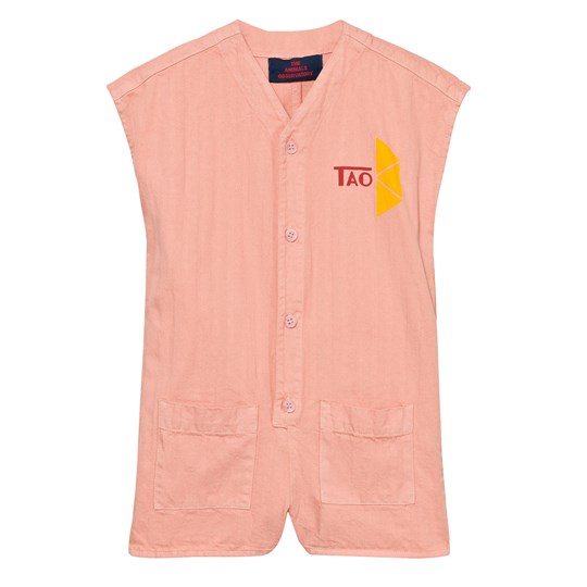 The Animals Observatory Ape Romper Pink Tao Triangles Pink Tao Triangles