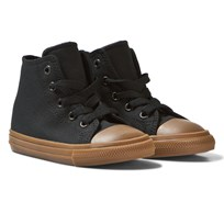 Converse Black Chuck Taylor All Star II Kids Hi Tops Black/Gum