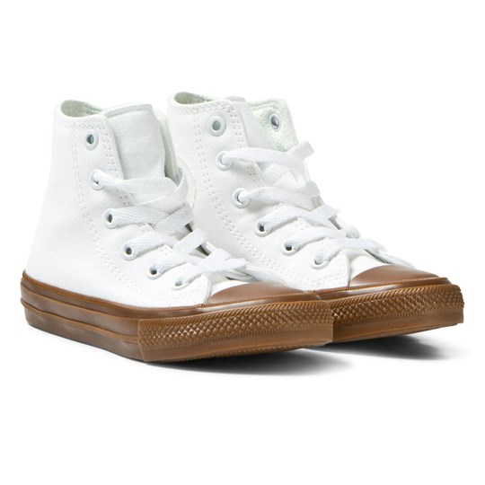 Converse White Chuck Taylor All Star II Junior Hi Tops White/Gum