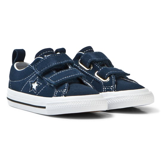 Converse Navy One Star Infants Velcro Trainers Navy/White/Black