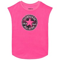 Converse Neon Pink Printed Chuck Patch Tee A4A
