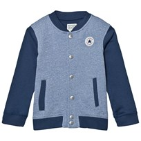 Converse Navy and Blue Marl Varsity Jacket U1H