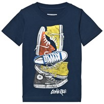 Converse Navy Stacked Remix Tee B9P