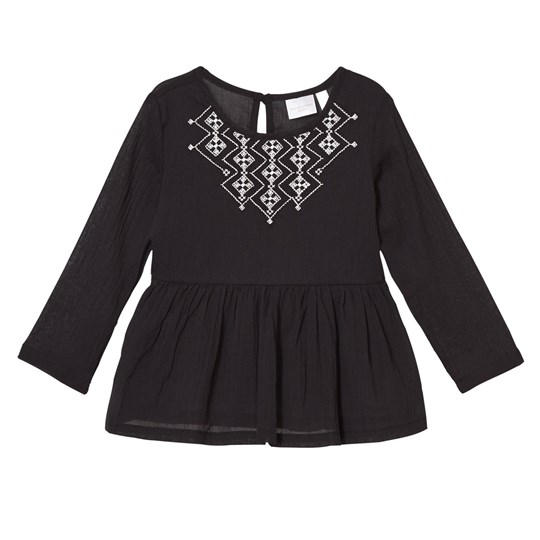 Kardashian Kids Black Embroidered Blouse Black
