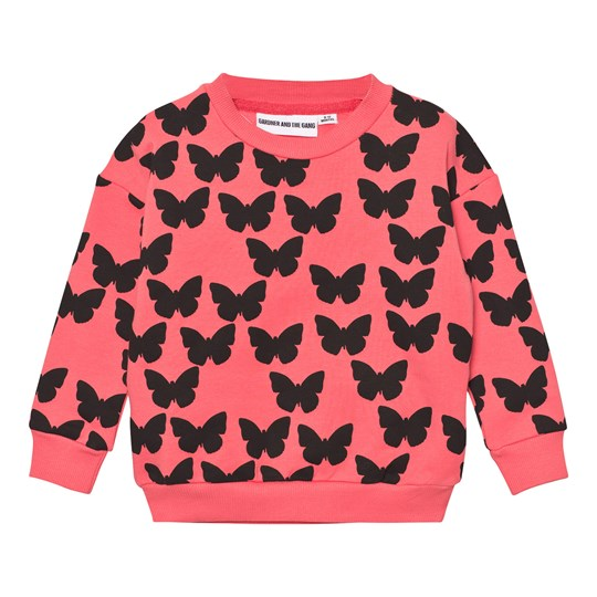 Gardner and the gang The Classic Sweatshirt Silhouette Butterflies Coral Coral