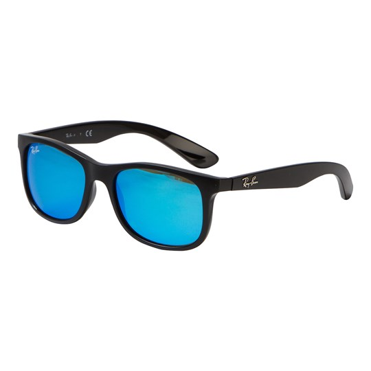 Ray-ban - New Wayfarer Junior Sunglasses Matte Black Blue Mirror ... 596b0c12ec