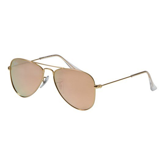 Ray-ban Aviator Junior Sunglasses Gold/Copper Mirror 249/2Y