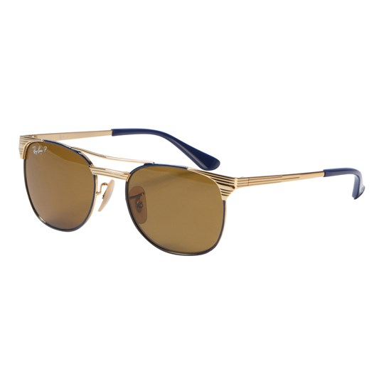 Ray-ban Signet Junior Sunglasses Gold/Blue/Polarized Brown Classic B-15 260/83